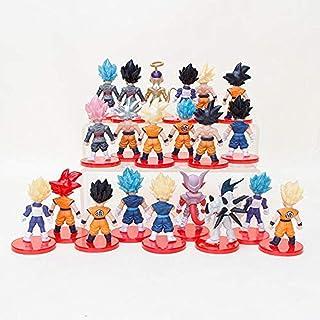 YYHJ Juguete Figurilla Coleccionable Gift 21pcs / Set Dragon Ball Super Saiyan Vegeta Gohan Goku Trunks Vegetto Migatte No Gokui Figura Toy Collection Modelo Toy Collection Toy Bag-Sac Up