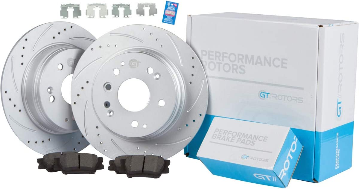 Rear Max 83% Import OFF Kit GEOMET Coated Performance Rotors Brake Disc Slotted