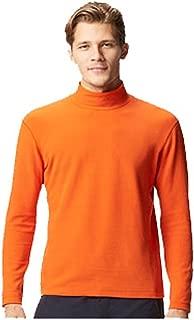 ELEGANCE1234 Men's Roll Neck Soft Cotton Long-Sleeve Tops