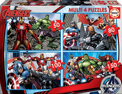 Educa 16331 - Multi 4 Puzzle - Avengers