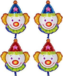 4pcs Clown Foil Balloon Aluminum Mylar Helium Party Balloons Kids Party Supplier Funny Game Reward Gift