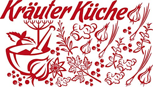 GRAZDesign muursticker keuken kruiden keuken - keukenfoto's specerijen peper morse / 770059 031 rood