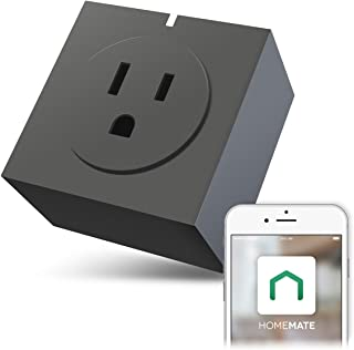 Zettaguard S31-Grey Wi-Fi Smart Plug Outlet, Compatible with Alexa, Timer Switch Socket, Energy Meter, Wireless Remote Control your Electronics from Smartphone or Tablet, Grey
