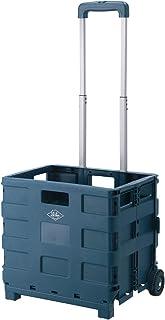 不二貿易 折りたたみ キャリーカート アウトドア 幅40cm ネイビー コンパクト 耐荷重25kg 86107