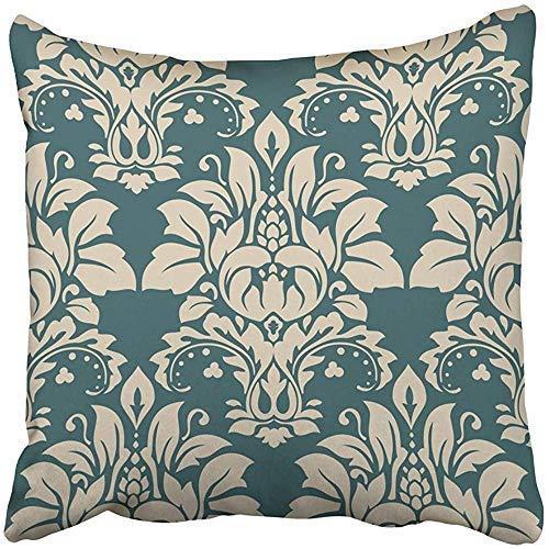 Fundas de almohada personalizables con diseño de damasco negro antiguo, clásicas, de lujo, estilo victoriano real, exquisitas flores barrocas para el hogar, interior, cama, jardín, coche, oficina, decoración de sofá