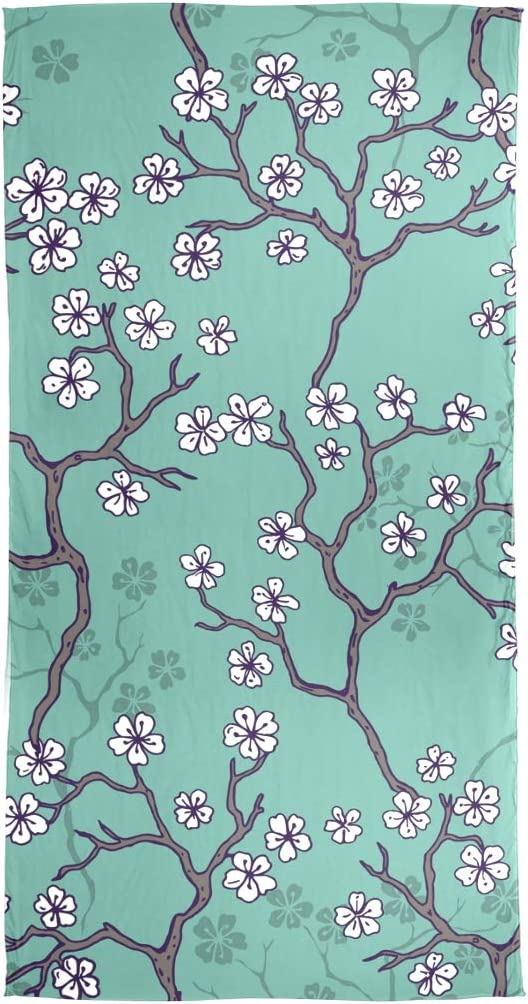AUUXVA Fashion Scarf Vintage Floral Japanese Cherry Blossom Long Lightweight Sunscreen Scarf Shawl Wrap Muffler Neckerchief for Women Men