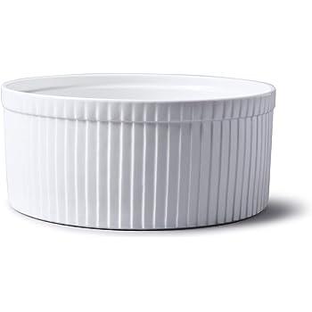 C/éramique 21 cm Emile Henry EH956880 Moule /à Souffl/é 23 x 21 Gris Silex 5 x 10 cm