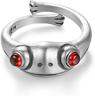MAELOVE Real 925 Sterling Silver Frog Adjustable Rings for Women Men Vintage Cute Animal Finger Ring Silver Fashion Party ...