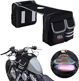 kemimoto ATV GasTank Bag Tank Top Saddle Bag 1680D Waterproof Storage Bag with Thermal Cooler Bag for Motorcycle Snowmobiles Yamaha Harley Honda Kawasaki Suzuki