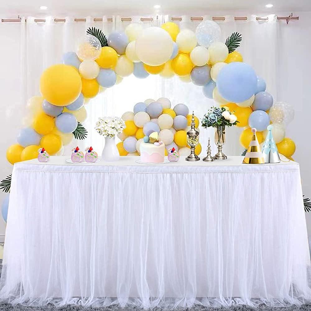 Mantel de Mesa para Fiestas, Banquetes de Boda, decoracin del hogar, a Prueba de Arrugas, para Fiestas de Navidad (1.83m x 0.8m, Blanco)
