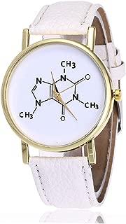 V22Dustproof Quartz Wrist Watch Precise Girls Boys Man Woman Birthday Gifts Fashion Luxury Clock Watches - White