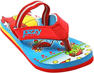 Hopscotch Baby Boys Synthetic Flip Flop in Red Color
