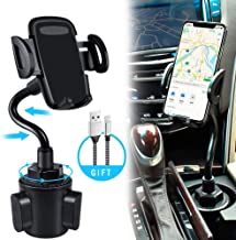 bokilino Car Cup Holder Phone Mount, Universal Adjustable Gooseneck Cup Holder Cradle Car Mount for Cell Phone iPhone 11 Pro/11 Pro Max/11/X/Xs/Xs Max/8/8Plus,Samsung,Huawei,LG, Sony, Nokia (Black)
