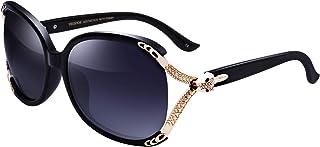 VEGOOS Ladies Designer Sunglasses Polarized 100% UV Protection Fashion Retro Oversized Shades for Women Small Faces