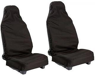Pixnor Coche universal Van negro Nylon impermeable resistente delantero fundas protectores