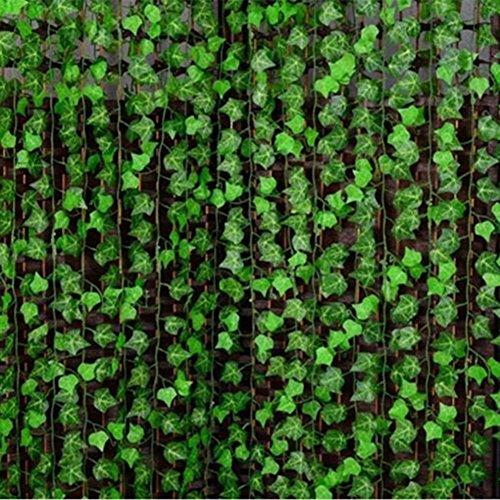 Dellefuture - Guirnalda artificial de hojas de vid de hiedra artificial de 2,4 m para decoración del hogar