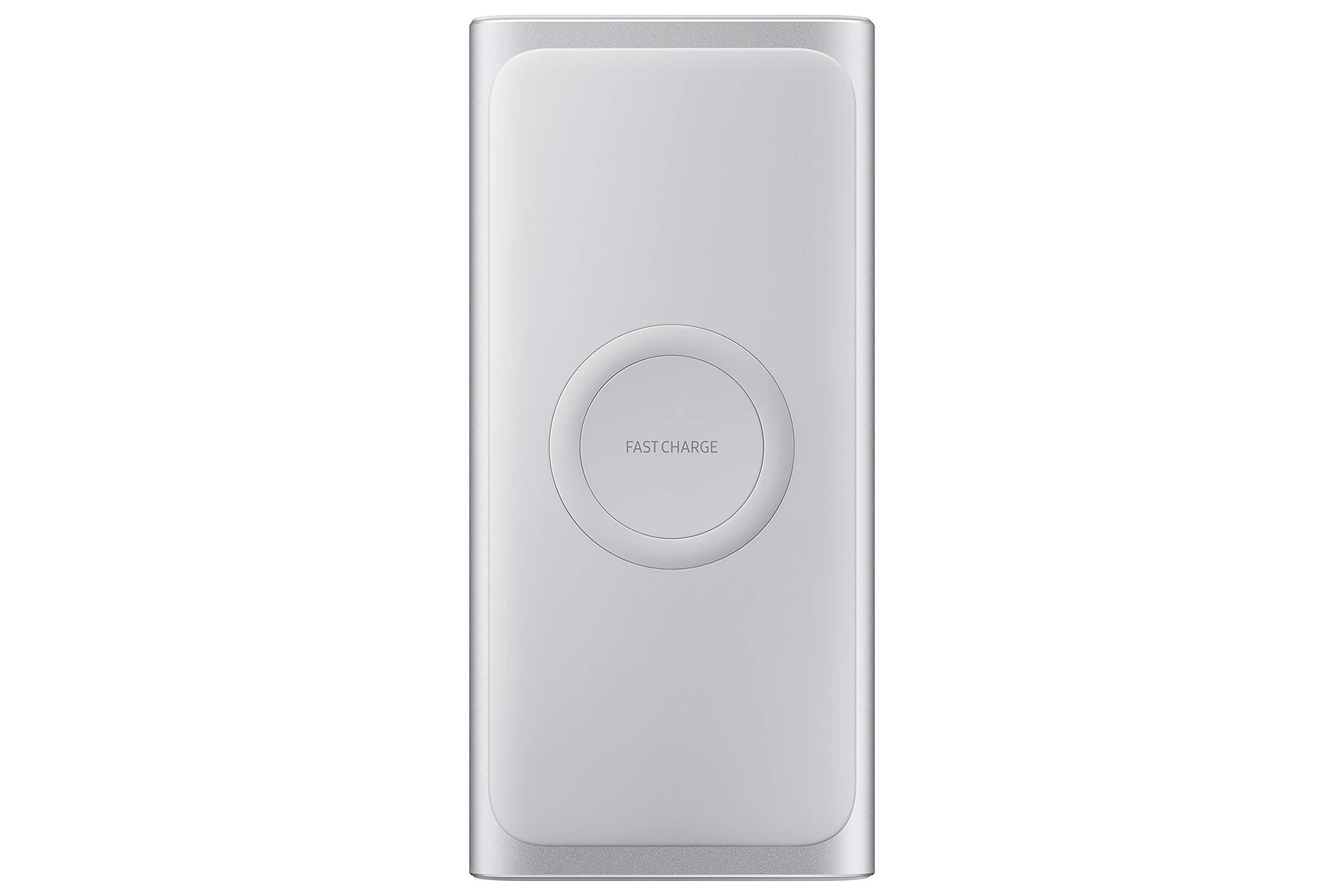 Samsung 2-en-1 Cargador inalámbrico portátil de Carga rápida y batería 10,000 mAh, Plata (Versión de EE. UU. con garantía): Amazon.es: Electrónica