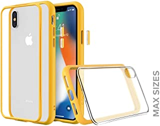 RhinoShield(ライノシールド) iPhone XS Max用 モジュラーケース カスタマイズ可 衝撃吸収 高耐久 ワイヤレス充電&カメラレンズ対応 - イエロー耐衝撃バンパー&クリア背面