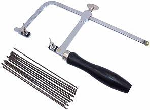 BAOSHISHAN Arco de sierra ajustable profesional manual con 144 hojas de sierra marco de herramientas de mano de sierra de marco de bricolaje joyería herramienta para hacer joyas