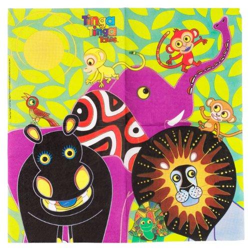 Occasions Direct - Tovaglioli di carta decorati in stile tinga-tinga, 20 pezzi