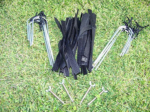 Display4top Soccer Goal 12′ X 6′ Football Goals W/net Straps, Anchor Ball Training Sets