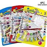 12 colores conjunto de pigmentos de acuarela pincel de pintura diy arte manualidades set regalo para niños que aprenden habilidad de pintura, 12 colores