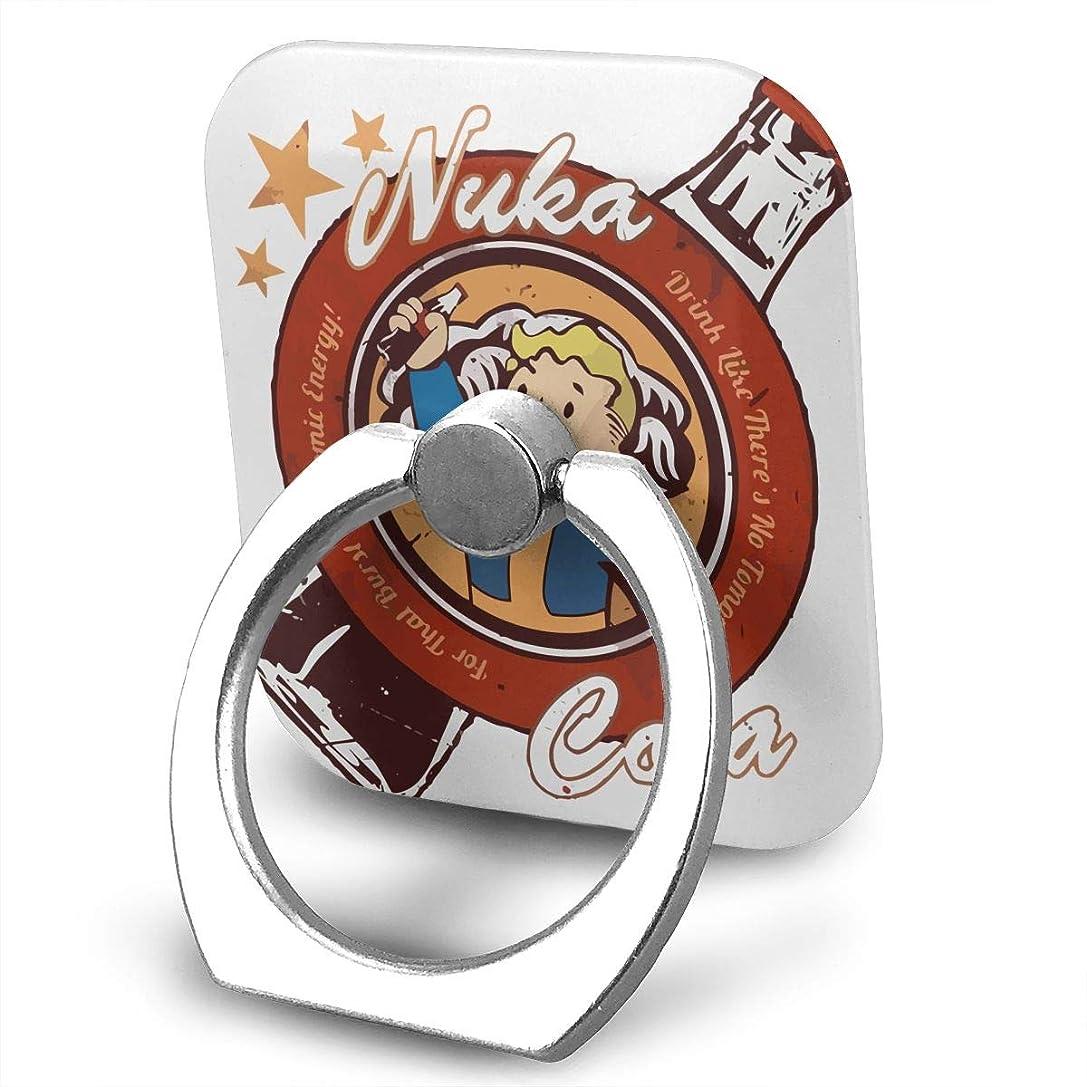 ペグ親指乱すFallout Drink Nuka Cola スマホ リング ホールドリング 指輪リング スクエアス 薄型 おしゃれ スタンド機能 落下防止 360度回転 タブレット/スマホ IPhone/Android各種他対応