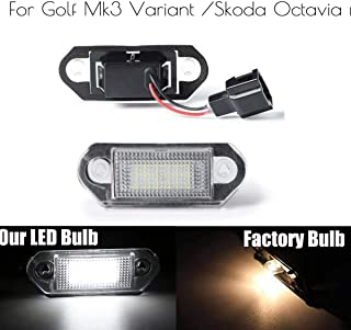 1 Pair LED Car License Number Plate Light Lamp Bulbs For VW Golf MK3 for Skoda Octavia I Auto Illumination Licence Plate Light