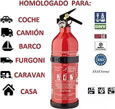 EXTINTOR 1 K G ABC HOMOLOGADO PARA COCHE MOTO BARCO COCINA CASA CARAVANA DE ALUMINIO CON SOPORTE Y MANOMETRO INCENDIO FUEGO PREVENCION SEGURIDAD