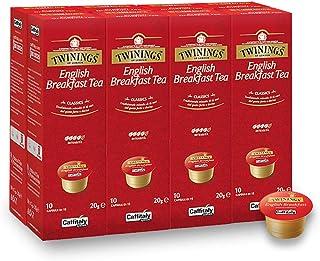 Twinings English Breakfast Teekapseln für Tchibo Cafissimo Caffitaly K-Fee Teekanne 80 Kapseln