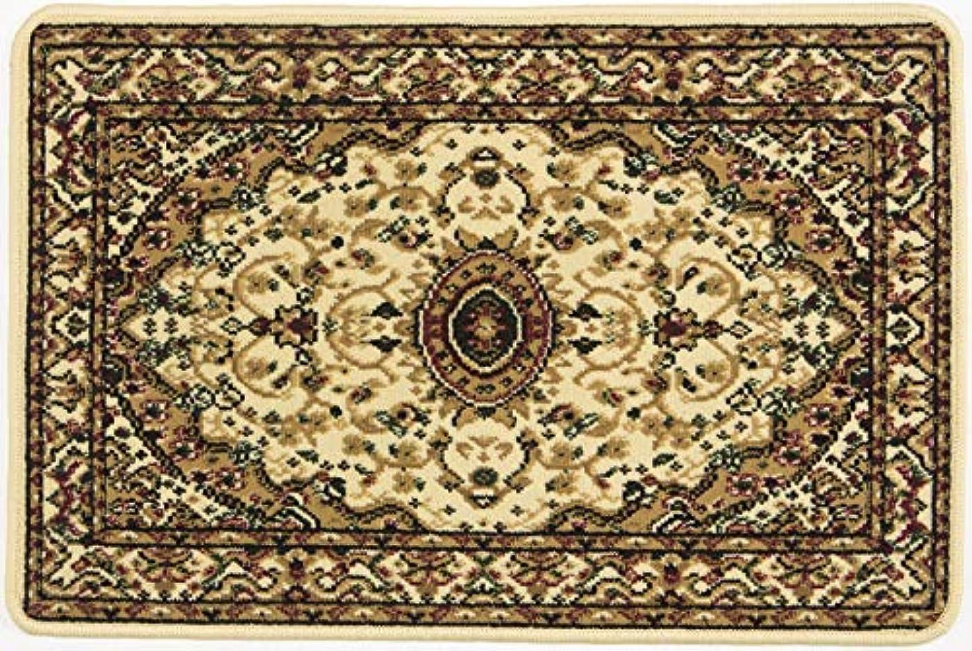 北東親愛な引き渡すファミリー?ライフ イ草 ベージュ 6畳(240x330cm) ペルシャ柄ウィルトン織りカーペット