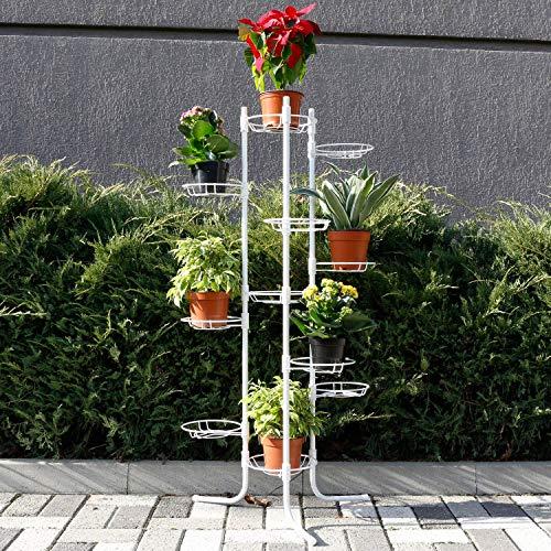 Weiße 11 Blumenständer Foltbar Holz Blumenablage Metall Balkon Blumenbank Für Innen Pflanzentreppe Draussen Plant Stand Indoor Outdoor Dekoständer Pflanzenständer