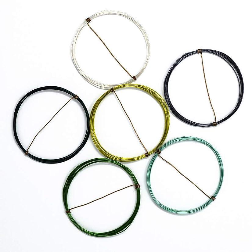Forest Flora - Enameled Copper Wire Spools – 22 Gauge - Green, Hematite, Peridot, Seafoam, Silver, Teal - 5 feet of Each Color (30 Total feet)