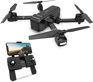 ドローン GPS搭載 おりたたみ式 1080P HDカメラ付き 飛行時間最大15分 飛行距離最大600M 高度維持 生中継 リターンモード フォローミーモード ヘッドレスモード搭載 モード1/2自由転換 国内認証済み 2.4GHz 4CH 6軸ジャイロ DEERC ドローン DE25
