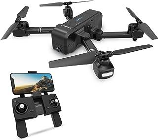 DEERC ドローン GPS搭載 おりたたみ式 1080P HDカメラ付き 飛行時間最大15分 飛行距離最大600M 高度維持 生中継 リターンモード フォローミーモード ヘッドレスモード搭載 モード1/2自由転換 国内認証済み 2.4GHz 4CH DEERC ドローン DE25