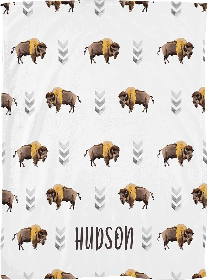 Import Excelliti Personalized Exotic Manufacturer OFFicial shop Bison Wild Buffalo Animal Watercol