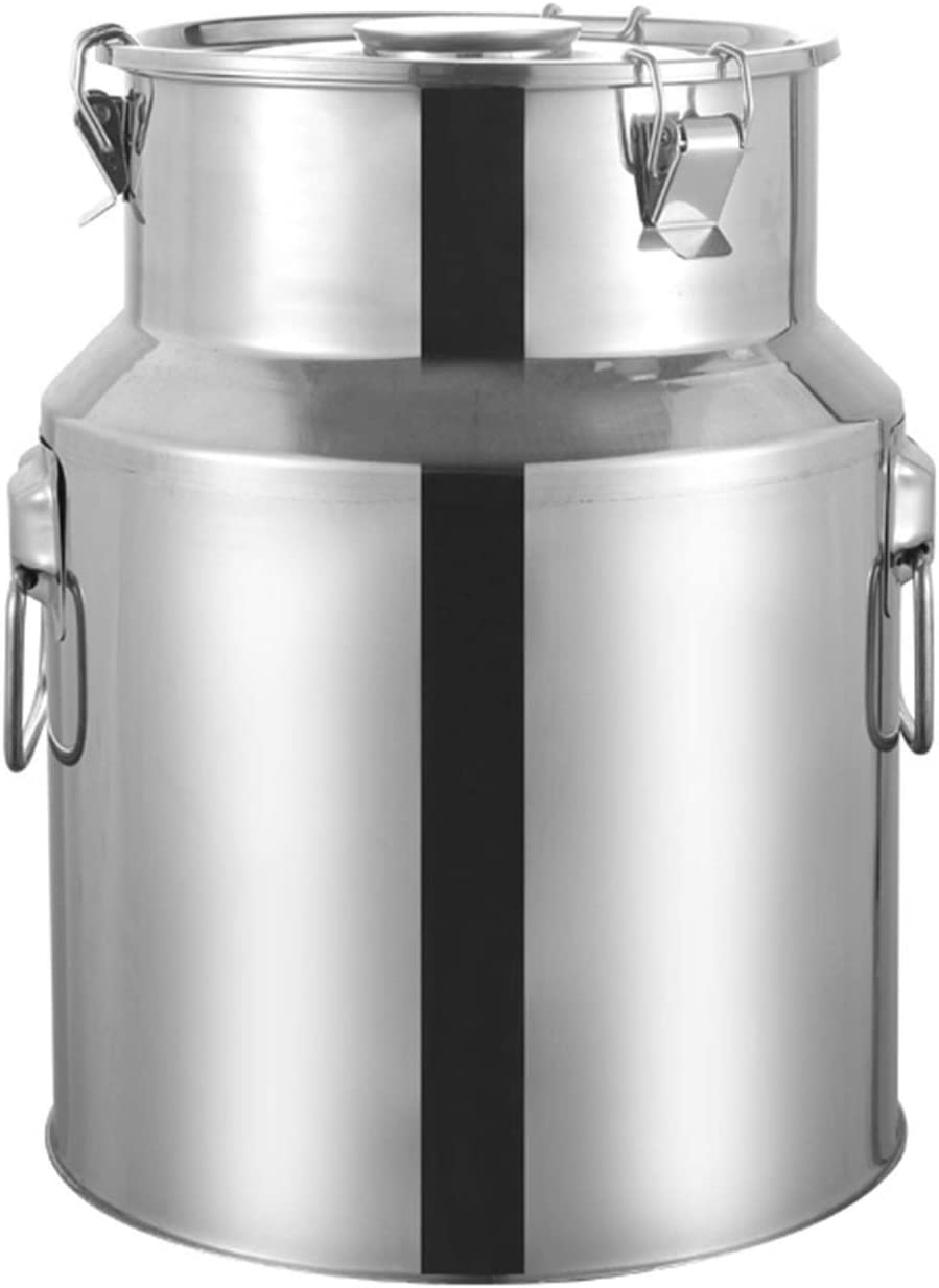 Stainless Steel Milk Can Kitchen Max 64% Some reservation OFF Bucket Storage C Food Canisters