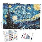 Diamond Painting Kits for Adults by Paint With Diamonds XL 60x40cm 'Starry Night' Full Canvas Square Diamonds (Plus Free Premium Diamond Pen)