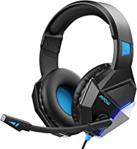 $24 » Mpow EG10 Gaming Headset for PS4, PC, Xbox One (254G Lightweight Edition), Wired Gaming Headphones with 3D Surround Sound, Noise Cancelling Mic, 50mm Drivers, Soft material Computer Headset