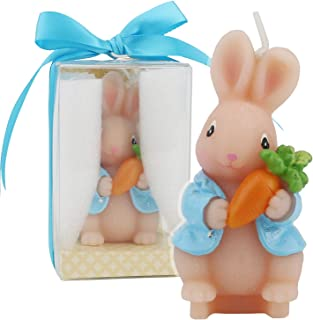 TinaWood Cute Bunny Birthday Candle, Smokeless Cake Candles Home-Made Cake Topper, Great Decoration for Home Party, Easte...