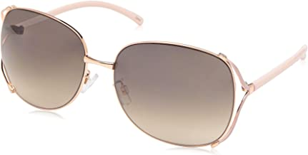 Rocawear Women's R3292 Rectangular Vented Metal Sunglasses with 100% UV Protection, 65 mm