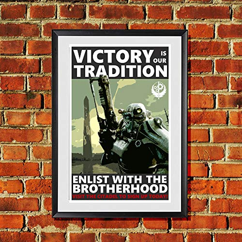 Fallout Brotherhood of Steel Propaganda Original Art Print 11x17