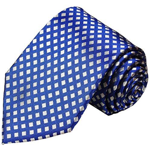 Blaue Krawatte 100% Seide extra lange 165cm von Paul Malone (Überlänge)