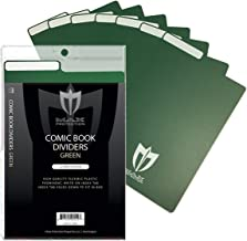 50ct Max Pro Comic Book Dividers - Green - New Design Innovative Flex Fold Tabs