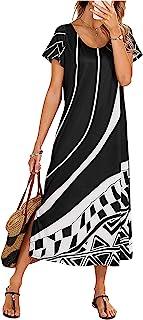 Women's Summer Casual Bohemian Scoop-Neck Floral Dress