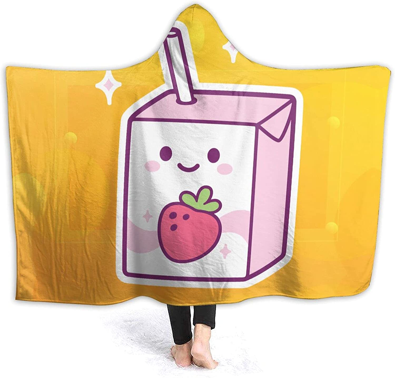 Summer New Strawberry Milk High material Printing Super Hooded Challenge the lowest price of Japan Blanket Cartoon