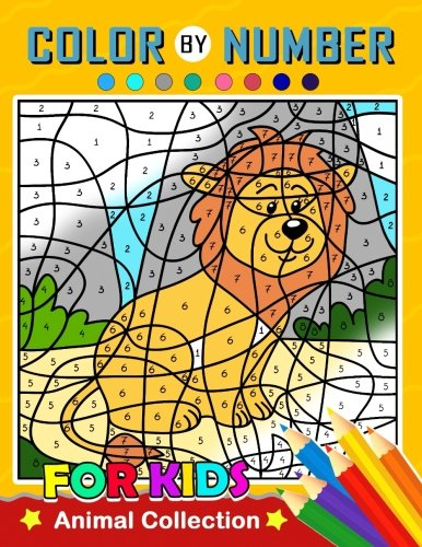 Color by Number for Kids: Animal Collection Activity book