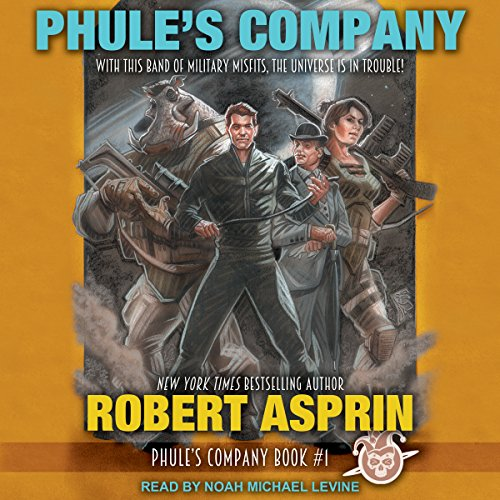 Phule's Company     Phule's Company, Book 1              By:                                                                                                                                 Robert Asprin                               Narrated by:                                                                                                                                 Noah Michael Levine                      Length: 7 hrs and 10 mins     511 ratings     Overall 4.6