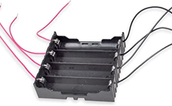 18650 Battery Holder with Leads, Besmelody 4 x Parallel 3.7v 18650 Battery Storage Box Case 4-Slot - 8 x 6 Bare Wire Leads