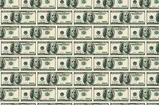 $100 DOLLAR BILL poster 24X36 kitsch & classy MONEY CURRENCY Ben Franklin